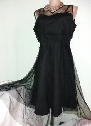 Очень красивое эластичное платье-сетка,50-52разм.