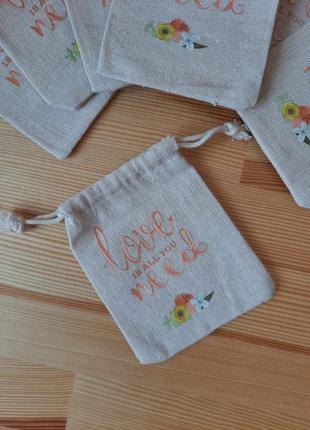 Новый небольшой подарочный мешочек мешковина упаковка мешок пакет