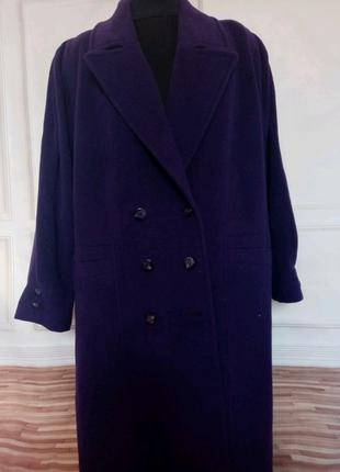 Пальто из натуральной шерсти и кашемира