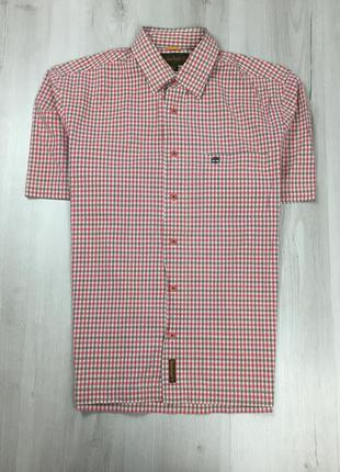 Z6 шведка клетчатая красная белая  timberland рубашка без рукавов