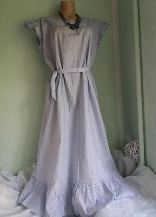 Новое натуральное летнее платье свободного силуэта,48-56разм.,...