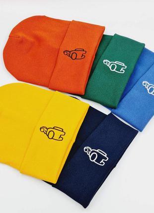 Шикарні шапочки для хлопчиків among us від 7 до 11 років