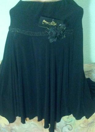 Распродажа!новая нарядная юбка  в стиле бохо,ассиметрия,паетки...