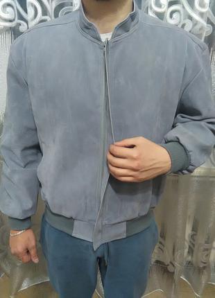 Мужской Бомбер Куртка Ветровка (замшевая, новая) XL