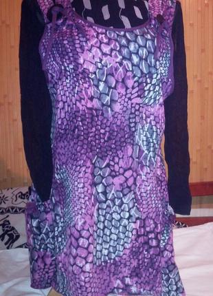 Платье-туника в стиле бохо,можно для беременных,с удлиненными ...