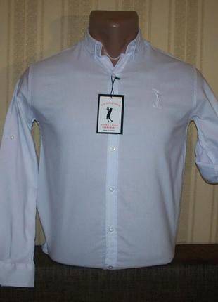 Рубашка трансформер приталенная для мальчиков 134,140,146,152 Тур