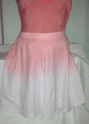 Красивая новая юбка с градиентом,44-48разм.,used