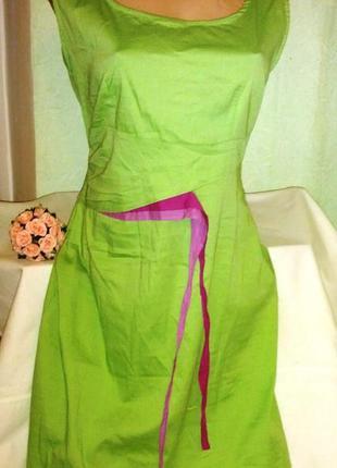 Коттоновое платье,44-48разм,индия,пог-48-56см