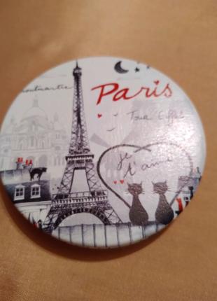 Карманное двойное зеркало Paris Glamour Sarl