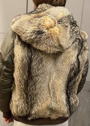 Куртка жилетка пуховик Florence Mode 50p с мех лисы Moncler