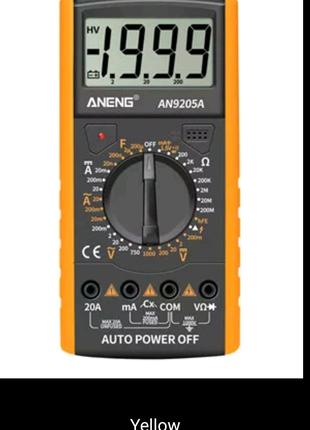 Цифровой мультиметр ANENG AN9205A +, 3 1/2 дюйма, ЖК-дисплей,