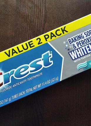 Отбеливающая зубная паста crest baking soda&peroxide whitening...