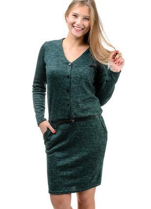Повседневное женское платье,теплое,нарядное,миди.