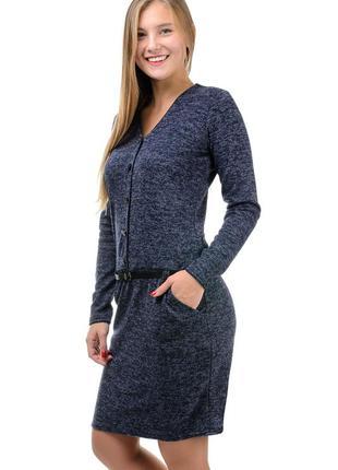 Теплое,нарядное,повседневное женское платье из ангоры-софт.