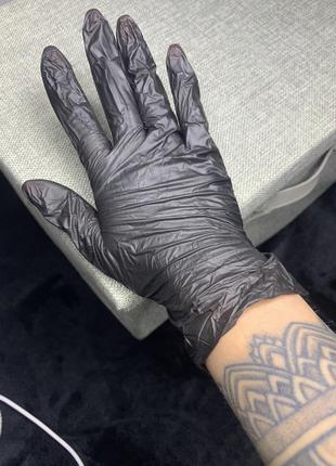 Нитриловые перчатки, одноразовые
