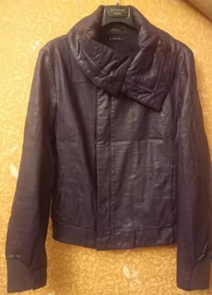 Кожаная куртка (косуха) sisley из кожзама