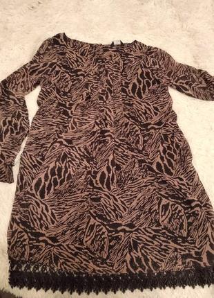 Шифоновое платье с кружевом размер 16
