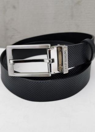 Класический кожаный ремень raf simons 105/42 италия оригинал