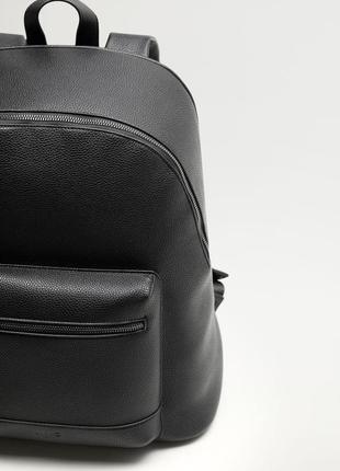 Кожаный рюкзак mango man !