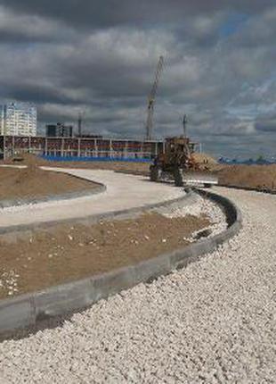 Будівництво під'їздних доріг, тимчасових доріг. майданчиків