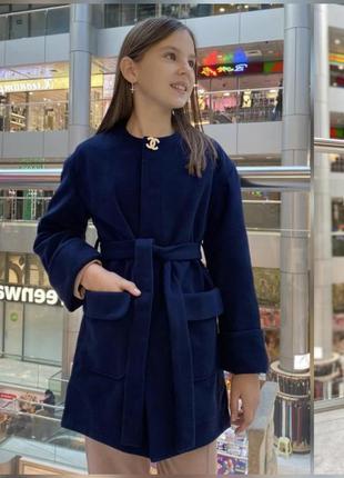 Кашемировое пальто для девочки 128-152