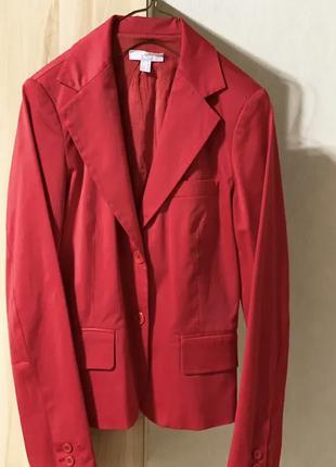 Пиджак женский, Mango, красного цвета