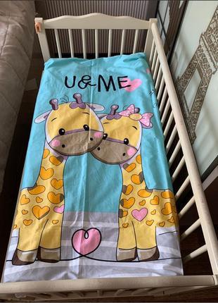 Детское постельное белье в кроватку для новорожденных 110*140 см