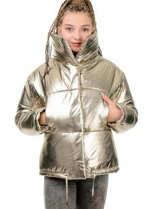 Стильная курточка-дутая,пуховик зимний женский короткий.
