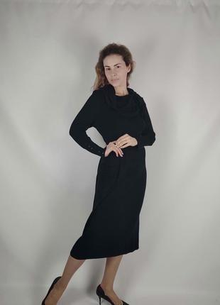 Длинное трикотажное платье италия