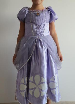 Платье нарядное детское дисней принцесса софия