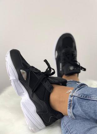 Adidas falcon black and white