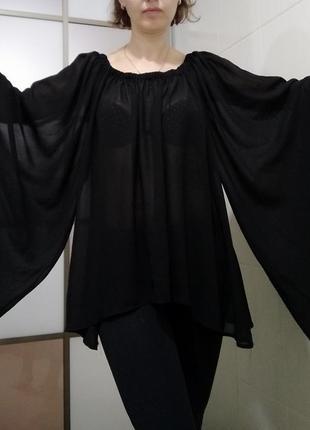 Блузка-разлетайка, летучая мышь, хэллоуин