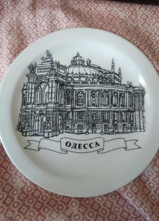 Тарелка коллекционная сувенирная оперный театр Украина Одесса