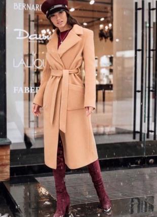 Пальто кашемировое с накладными карманами!