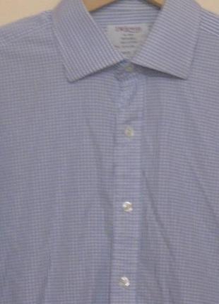 Рубашка мужская в голубую клеточку. большой 60 размер .