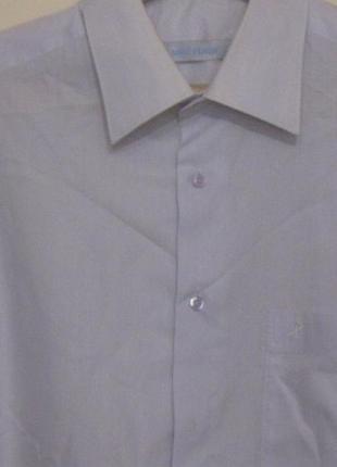 Рубашка мужская светлая однотонная. большой 60 размер . бюджетно