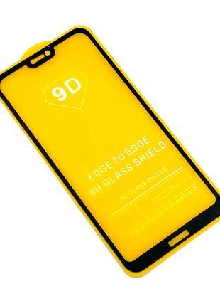 Защитное стекло 9D Huawei Honor P20 Lite 2018 Black (тех. упаковк
