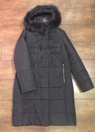 Продам женскую зимнюю длинную куртку, большие размеры!
