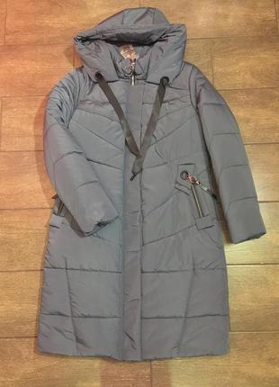 Продам женскую зимнюю длинную куртку, пуховик. большие размеры!