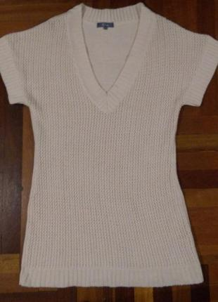 Белая акриловая туника платье р.10