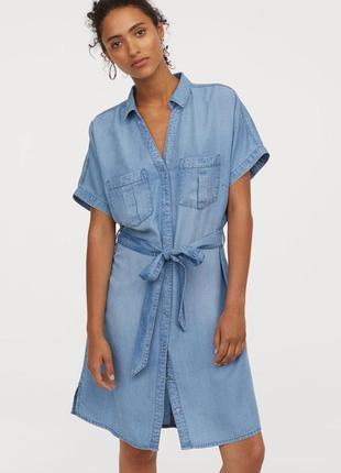 Джинсовое платье рубашка h&m