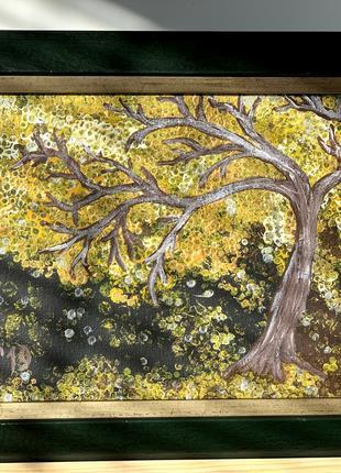 """Авторская работа """"Золотое дерево"""". Картина."""