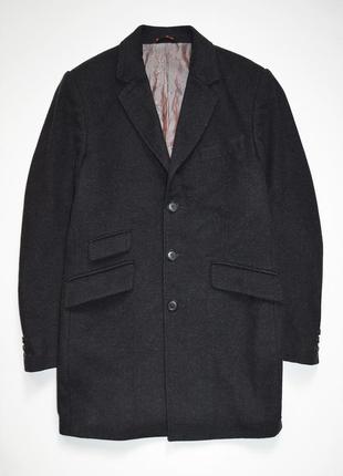Мужское демисезонное пальто next шерсть, кашемир