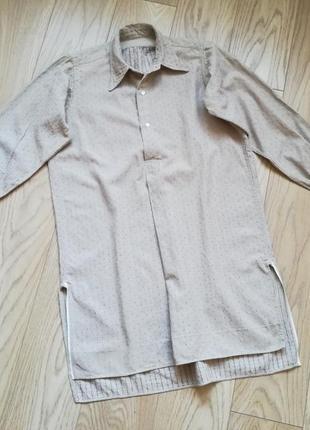 Интересная длинная рубашка, возможно как платье