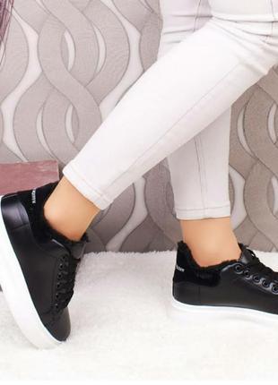 Утепленные кроссовки евро зима осень женские кросівки деми тол...