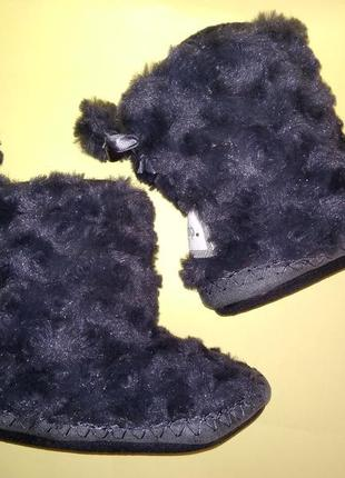 Домашние сапожки тапочки тёплые на флисе 29 размер серые