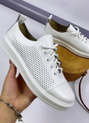 Повседневные стильные кроссовки кеды, натуральная кожа