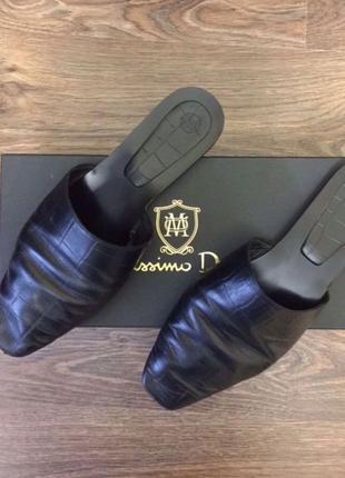 Фирменные Кожаные Мюли Massimo Dutti, размер 37. Олх- доставка.