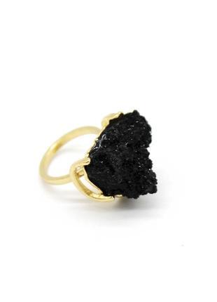 Кольцо black с черным камнем