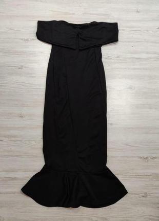 👑♥️final sale 2019 ♥️👑  платье миди черное с открытыми плечами